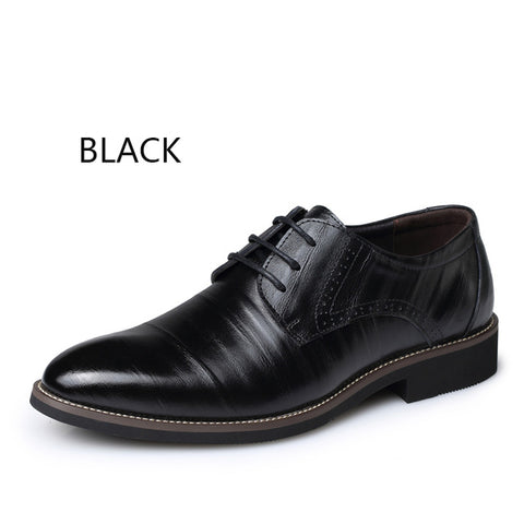 BIMUDUIYU  Men Brogues Lace-Up Dress Shoes Plus Size 38-48