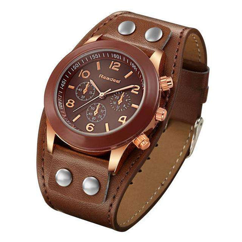 Relogio Readeel women  leather strap wrist watch