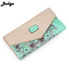 Image of 2017 New Fashion Flowers Envelope Women Wallet Hot Sale Long Leather Wallets Popular Change Purse Casual Ladies Cash Purse