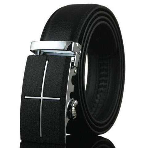 WOWTIGER Automatic Buckle Cowhide Leather men belt 110cm-130cm