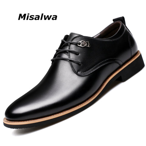 Misalwa Men Oxford Lace-up Leather Shoes