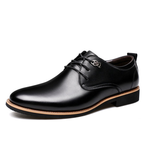 Misalwa 2017-2018 Men Dress Shoes Simple Style Quality Men Oxford Shoes Lace-up Brand Men Formal Shoes Men Leather Wedding Shoes