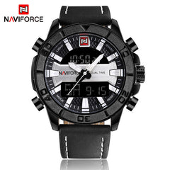 2017 NAVIFORCE Luxury Brand Men Fashion Sports Watches Men's Waterproof Quartz Date Clock Man Leather Army Military Wrist Watch