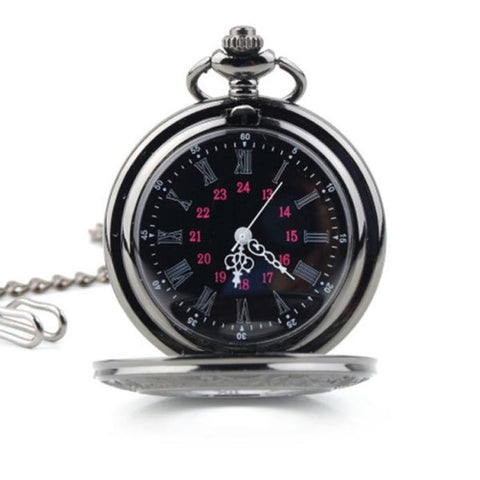 Vintage Hollow Roman Flower Alloy Men Women Pocket Watch