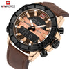 Image of NAVIFORCE Brand Men Sport Watches Men's Quartz Analog Waterproof Clock Male Leather Army Military Wrist Watch Relogio Masculino - Coolmart.us
