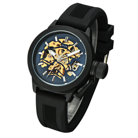Mens Watches Top Brand Luxury Hollow Skeleton Automatic Watch Men Watch Clock - Coolmart.us