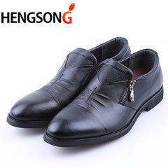 6 Styles Mens Dress Shoes High Quality Business Shoes For Men Shoes Pointed Toe Slip-on Men Wedding Shoes Flats Plus Size 38-46 - Coolmart.us