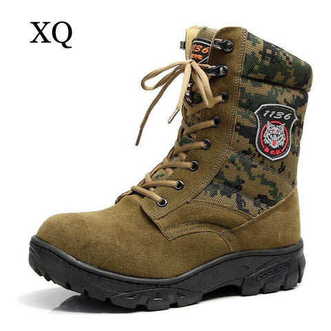 Men boots 2017 Camouflage genuine leather shoes men winter shoes Non-slip waterproof ankle snow boots for -40 degrees - Coolmart.us