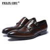 Image of FELIX CHU Classic Genuine Leather Monk Strap Loafer