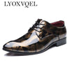 Image of Men's Flat Oxfords Patent Leather Derby Shoes