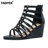 Image of Women High Wedges Sandals Real Leather Gladiator Shoes