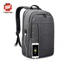 2018 Tigernu Anti-theft USB charging Men 15.6inch Laptop Backpack Women Backpack Mochila School Backpack Bag Casual Laptop Bag