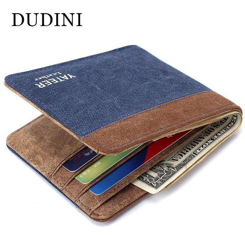 New High Grade Men Canvas Wallet Creative Design Business Card Purse 4 Type Man Clutch Fashion Money Wallets ID Holders