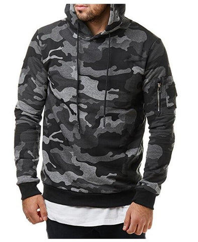 Hip Hop Casual Brand Hoodie Camouflage Sweatshirt Men Slim Fit Men Hoody M-3XL - Coolmart.us