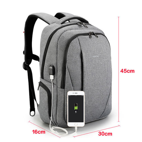 Tigernu brand multi-function USB slim 15.6 laptop backpack men anti-theft backpacks school bags for teenagers women