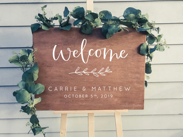 Carrie & Matthew Welcome