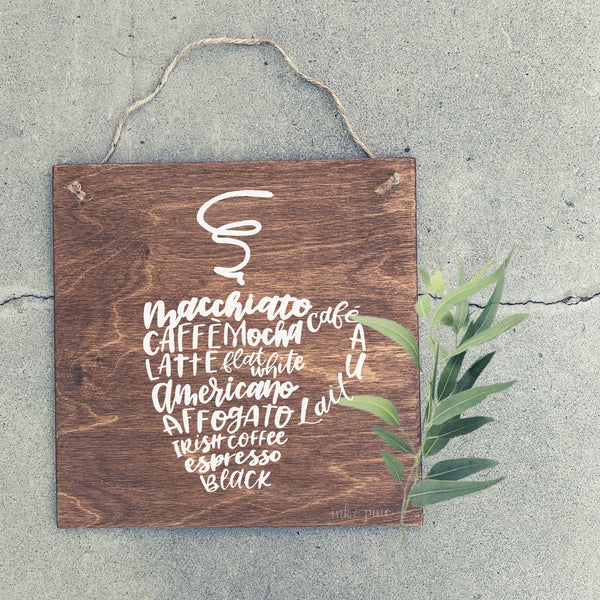 Natalie custom coffee sign