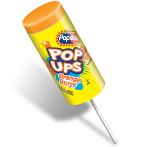 Popsicle Orange Burst Pop Up 24ct ($18.00/Box) - Detroit Metro Ice Cream