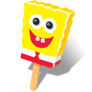 Popsicle SpongeBob SquarePants Bar 18ct ($17.00/Box) - Detroit Metro Ice Cream