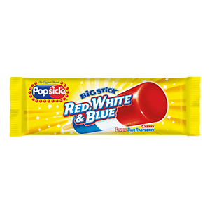 Popsicle Big Stick Red White & Blue 24ct ($18.00/Box) - Detroit Metro Ice Cream