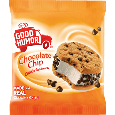 Good Humor Chocolate Chip Cookie Sandwich 24ct - Detroit Metro Ice Cream