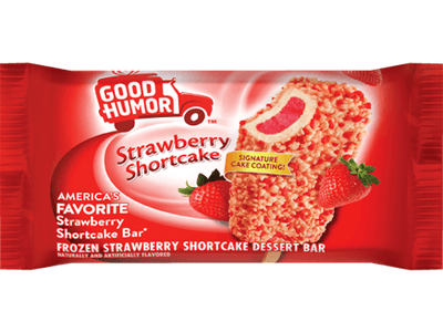 Good Humor Strawberry Shortcake Dessert Bar 24ct ($30.00/Box) - Detroit Metro Ice Cream