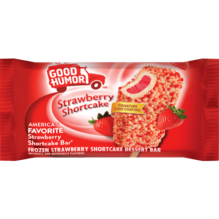Good Humor Strawberry Shortcake Dessert Bar 24ct ($28.00/Box) - Detroit Metro Ice Cream