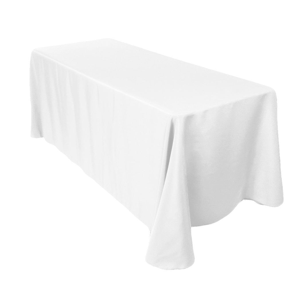 White Linens for 8' Rectangle Table - Detroit Metro Ice Cream