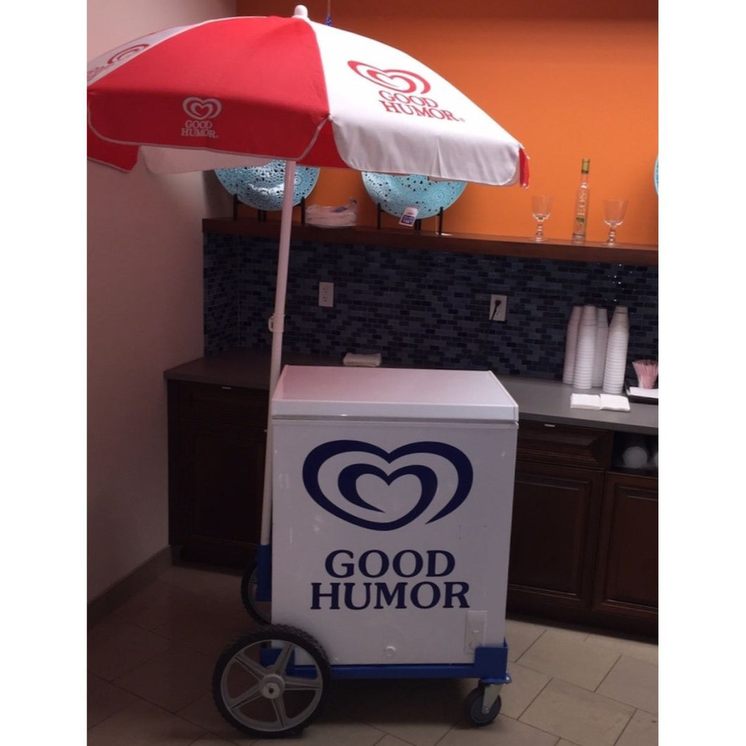 Small Umbrella Ice Cream Cart Rental - Detroit Metro Ice Cream