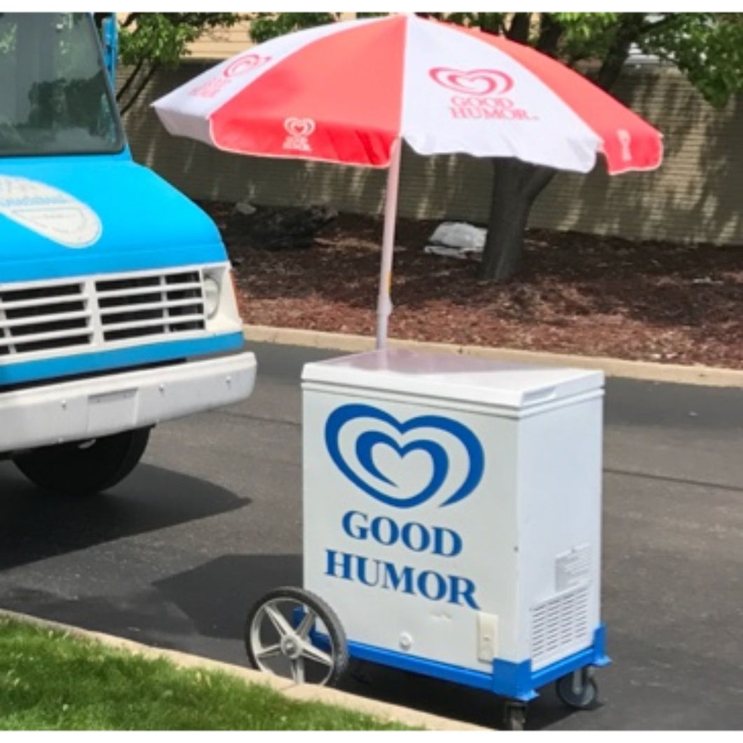 Large Umbrella Ice Cream Cart - Detroit Metro Ice Cream