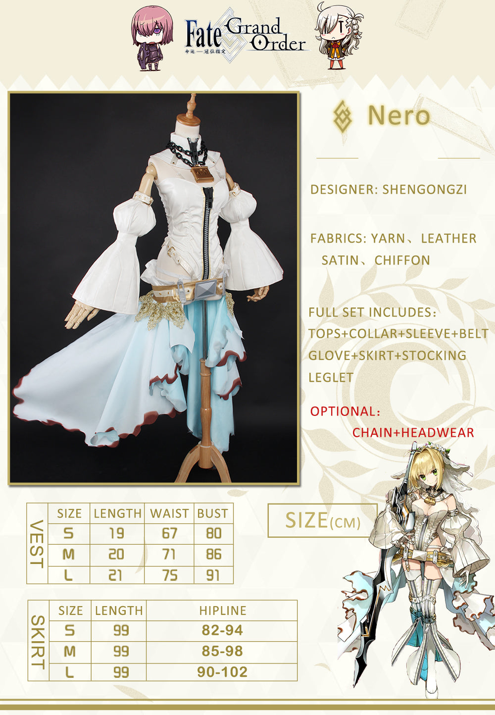 Fate Grand Order Nero Red Saber Bride Cosplay Women Wedding Party Costumes UWOWO