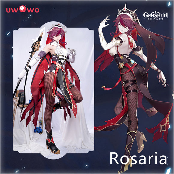 【Pre-sale】Uwowo Game Genshin Impact Cosplay Rosaria Thorny Benevolence Cosplay Costume