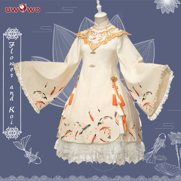 【Pre-sale】Uwowo Original Design Flower and Koi Chinoiserie Lolita Dress Cosplay Costume Views of the West Lake