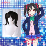Uwowo Love Live! School Idol Project µ's Nico Yazawa Lovelive LL 35cm Black Twin Tail Hair