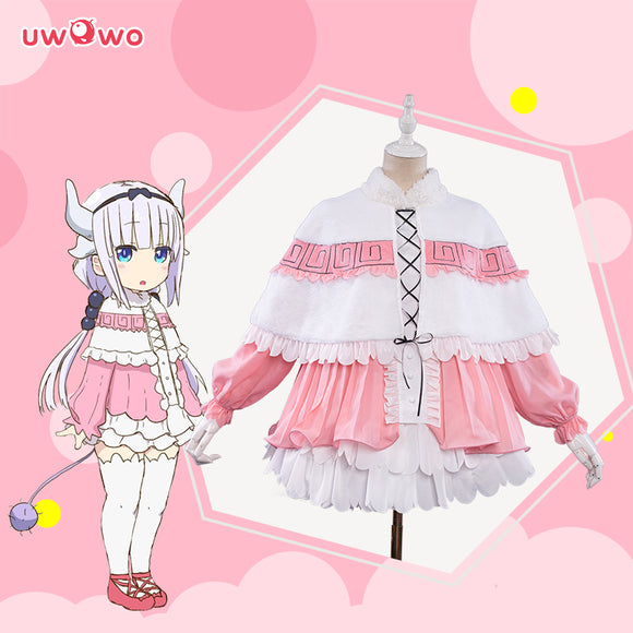 【Pre-sale】Uwowo Anime Miss Kobayashi's Dragon Maid Kanna Kamui Cosplay Costume Cute Maid Dress