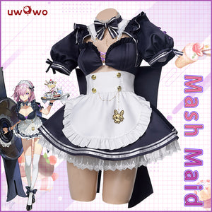 UWOWO Fate Grand Order/FGO Mash/Matthew Kyrielite New Maid Version Cosplay Costume Girls Cute Dress