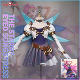 Uwowo Game League of Legends LOL Seraphine The Starry-Eyed Songstress Cosplay Costume