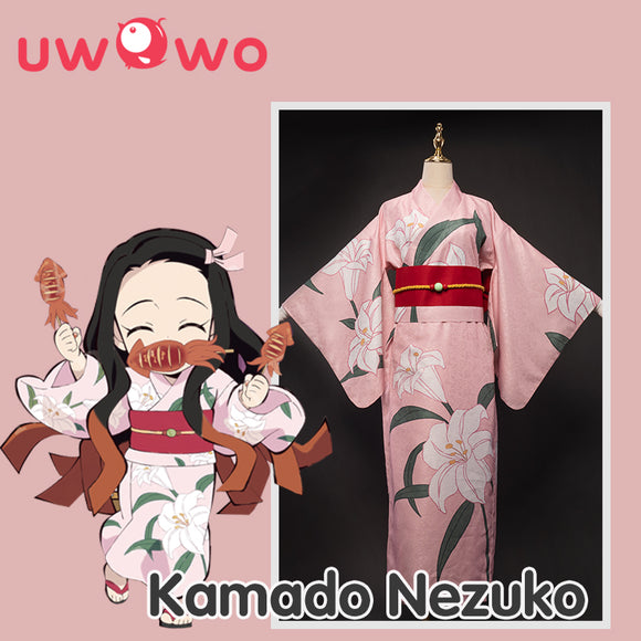 【Pre-sale】Uwowo Demon Slayer: Kimetsu no Yaiba Summer Festival Ver. Kimono Nezuko Kamado Cosplay Costume