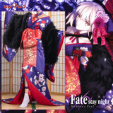 UWOWO Anime Fate Stay Night Heaven's Feel Saber Alter/Arturia Pendragon Alter Cosplay Costume Women Kimono Fate Grand Order/FGO