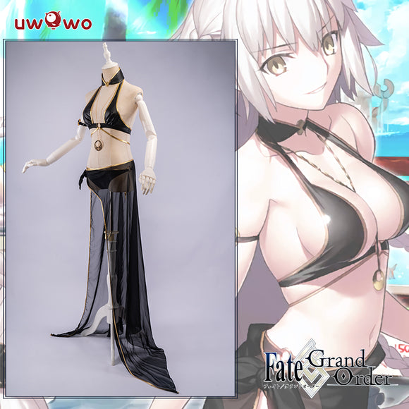Uwowo Game Fate Grand Order/FGO Jeanne d'Arc Alter (J'Alter) Swimsuit Cosplay Costume Heroic Spirit Festive Wear Sexy Cosplay