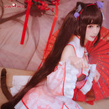 UWOWO Game NEKOPARA Chocola China Dress Edition DX Ver. Cosplay Costume Chocola and Vanilla Cute Girl Cheongsam Dress