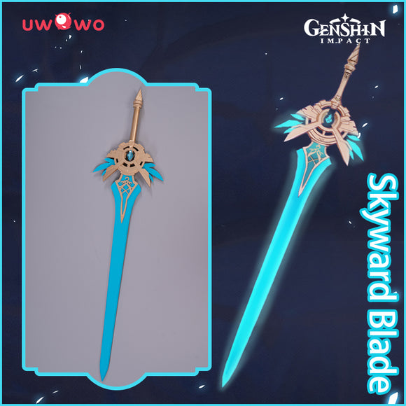 Uwowo Game Genshin Impact Weapons Skyward Blade Cosplay Props Sword Props