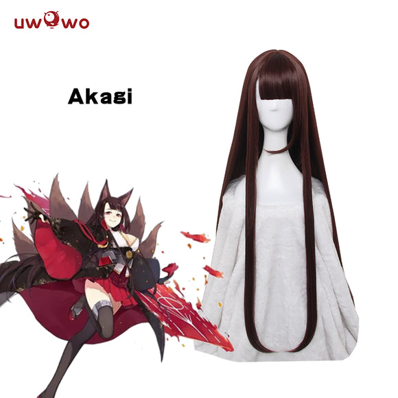 【Pre-sale】Uwowo Cosplay Game Azur Lane Akagi Cosplay Wig 100cm Brown Red Wig