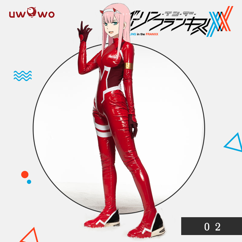 Defective Costume UWOWO DARLING in the FRANXX Cosplay Costume Zero Two  CODE002 Bodysuit Plug suit