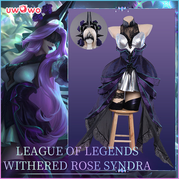 【Pre-sale】Uwowo Game League of Legends Withered Rose Syndra Cosplay Costume