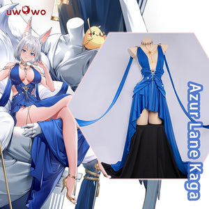 Uwowo Cosplay Game Azur Lane Kaga Cosplay Costume Sexy Dress