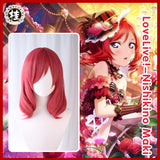 Uwowo Love Live! School Idol Project µ's Maki Nishikino Lovelive LL 40cm Red Short Curly Hair