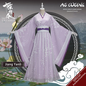 TV Series The Untamed Jiang Yanli Cosplay Costume Ancient Lady Clothing With Accessories