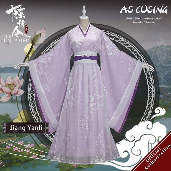 Pre-sale TV Series The Untamed Jiang Yanli Cosplay Costume Ancient Lady Clothing With Accessories