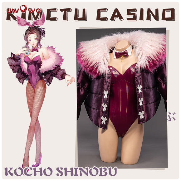 【Pre-sale】Exclusive Authorization Demon Slayer Doujin Kocho Shinobu Bunny Version Cosplay Costume Bodysuit Sexy Dress